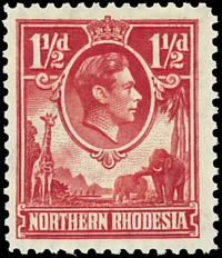 North Rhodesia, Scott 136