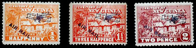 Territory of New Guinea, Scott C1, C3, C4