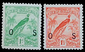 Territory of New Guinea, Scott O12, O13