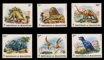 Maldive Islands, Scott 389-394